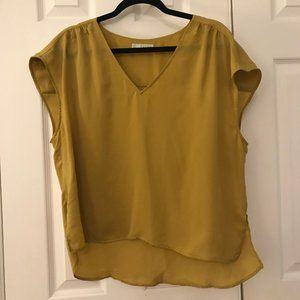 Bright Yellow/Mustard Hinge Blouse - XL